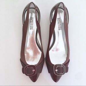 Kenneth Cole Reaction Leather Kitten Heel Pumps